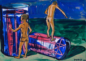 year: 2010 technique: tempera on paper size: 50 x 70 cm