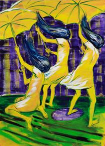Yellow Umbrellas