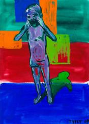 year: 2009 technique: tempera on paper size: 50 x 70 cm