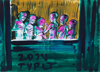 year: 2014 technique: tempera on paper size: 50 x 70 cm