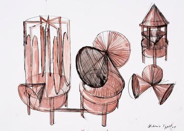 Jahr: 2008 Technik: Zeichnung auf Papier Größe: 70 x 50 cm