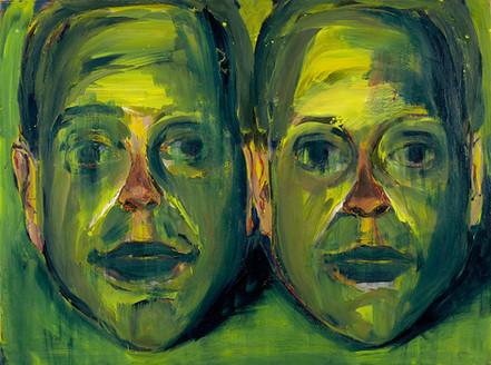 Autoportrét v zelené
