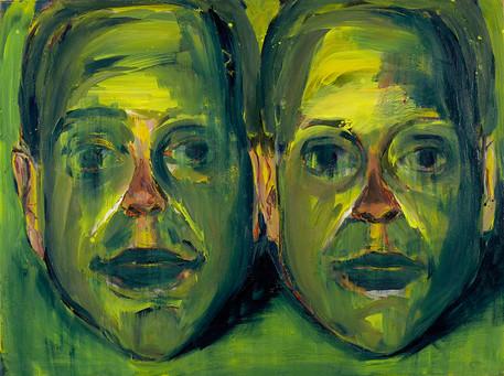 Selbstportrait in Grün