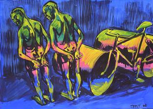 Jahr: 2006 Technik: Tempera auf Papier Größe: 70 x 50 cm
