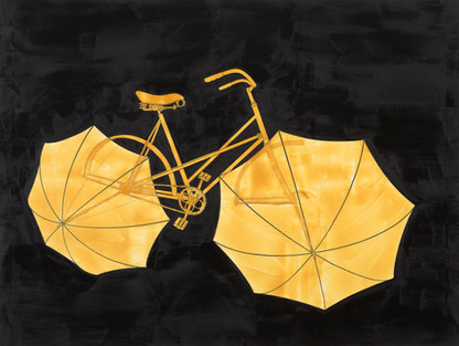 Bicycle on dark background
