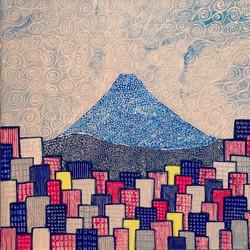 富士山とビル