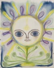 Spiritual  Portrait, Grounding while floating