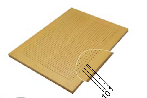 10/1 perforated acoustic panel