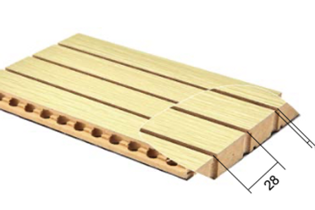 28/4 wooden grooved acoustic panel