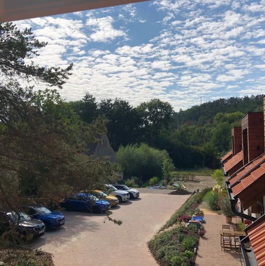 Výhled z okna bytu