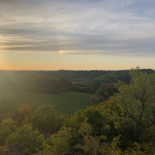 Minice - západ slunce Rusavky