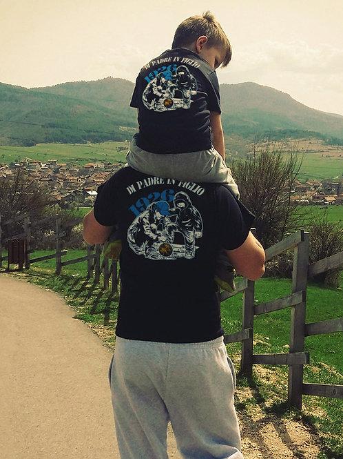 """Due T-Shirt """"Di Padre in Figlio 1926"""" Coppia Adulto -Bambino"""