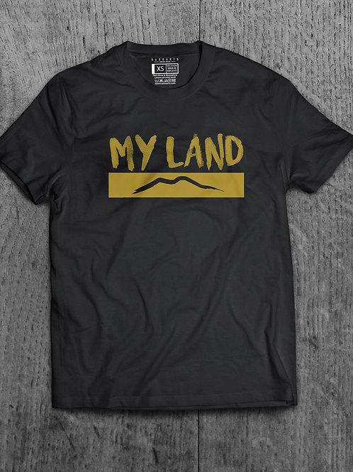T-Shirt My Land Grafica Oro o Argento