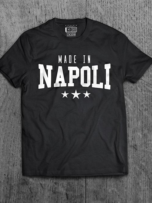 T-Shirt Made in Napoli grafica Bianca Laccata