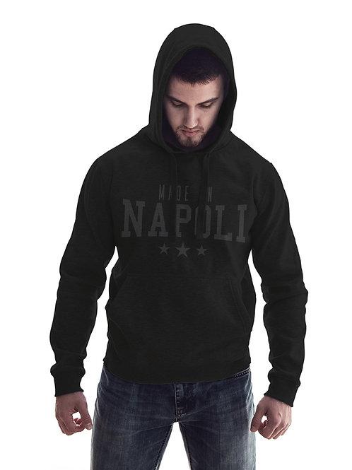 Felpa Nera Made In Napoli Versione Black