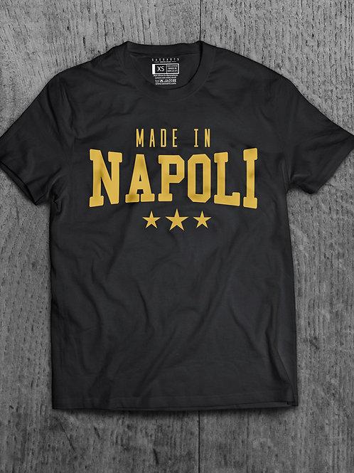 T-Shirt Made in Napoli Grafica Oro o Argento