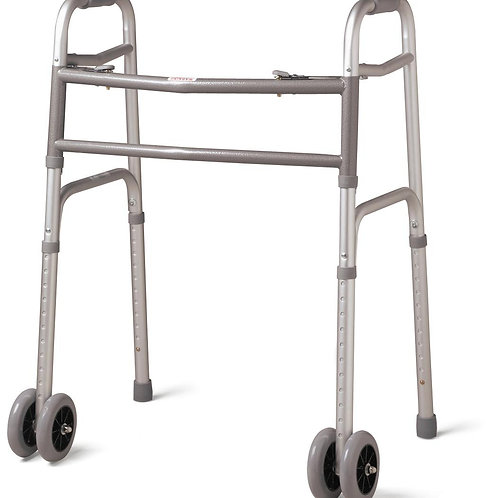 WALKER, ADULT, EX WIDE, 5IN WHEELS