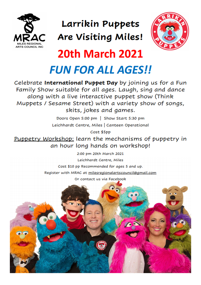 Larrikin Puppets Coming to Miles!