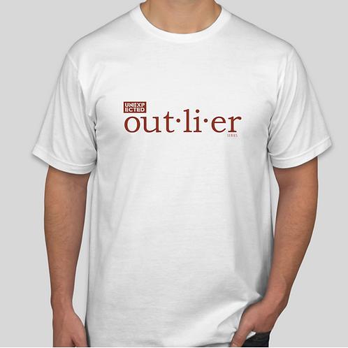 White Outlier Festival Short Sleeve Logo Tee