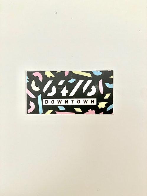 64.6 Downtown Logo Sticker