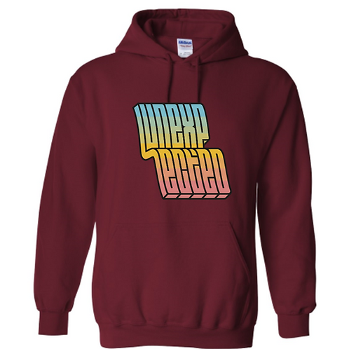 Maroon Logo Hooded Sweatshirt