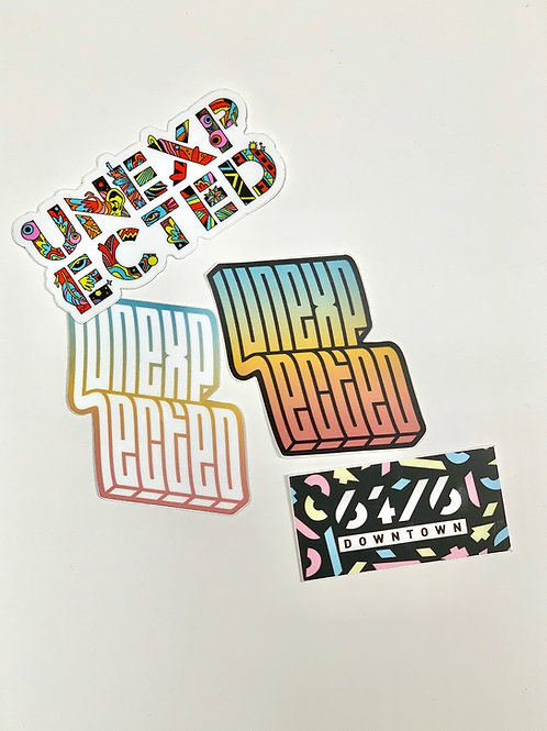 Assorted Logo Stickers