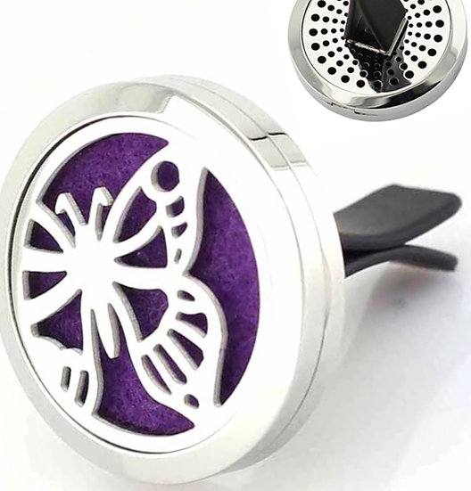 Single BUTTERFLY ~  Stainless Steel Car Vent Diffuser (30 mm)