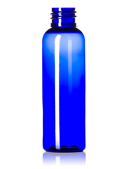 COBALT BLUE 1 oz  PET Plastic Bottle including Flip Top Lid
