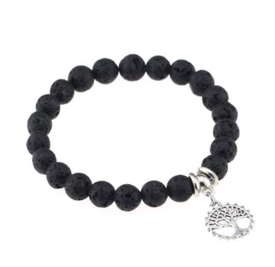 Lava Stone Diffuser Bracelet Tree of Life #2