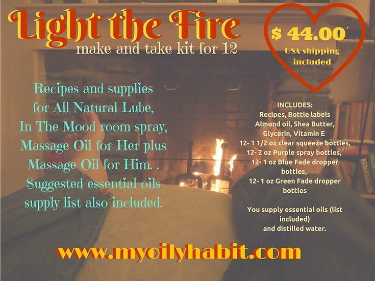 LITE THE FIRE - Spice up Your Love Life (30 ml)  - Make n Take Kit for 12