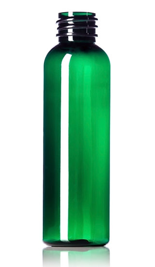 2 oz DARK GREEN PET Plastic Bottle Including CLOSURE of your CHOICE