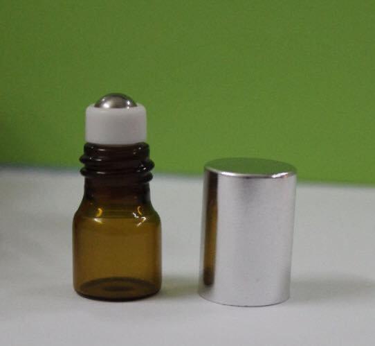 Amber Glass 1 ml Roller Bottle