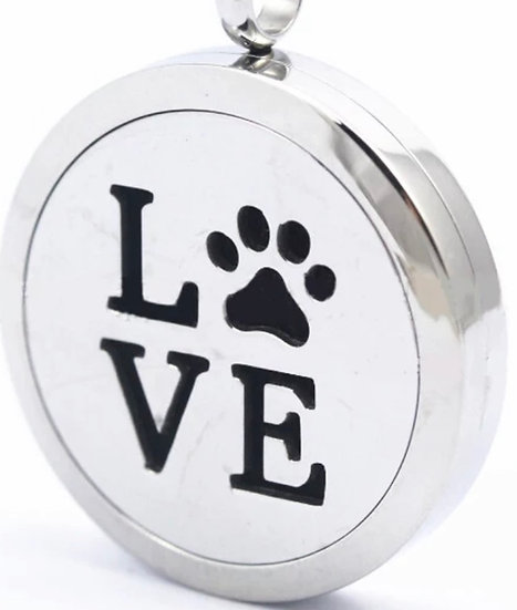 Love Paw Necklace  Diffuser