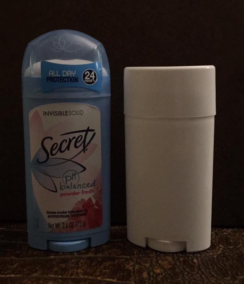 FULL SIZE ~ 2 5 oz OVAL Deodorant Tubes - WHITE
