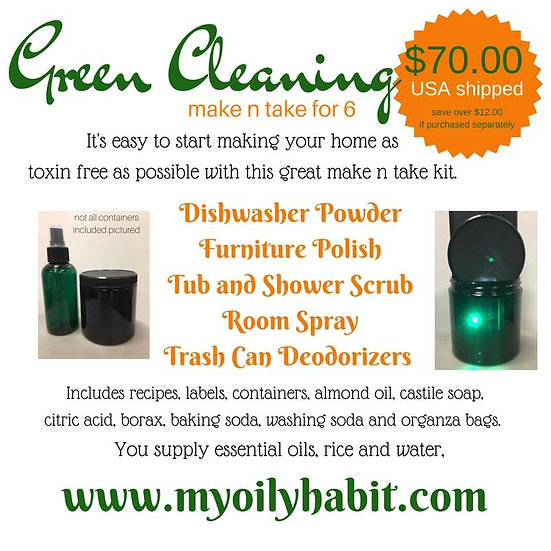 Green Cleaning SPRING - make n take kit for 6