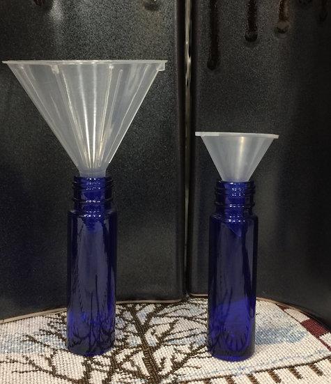 3 count LARGE Mini Plastic Funnels