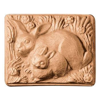 Two Rabbits Plastic Soap Mold