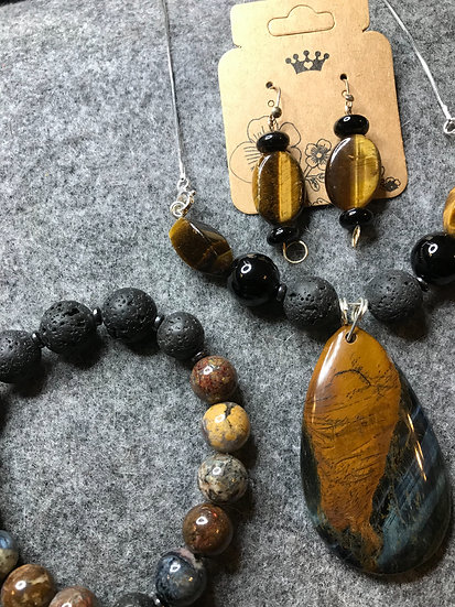 Tiger Eye Trio —  Diffuser beads