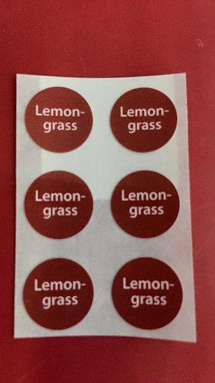 6 Lemongrass Labels