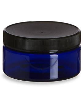 COBALT BLUE 4 oz PET Plastic Multi Purpose Jar
