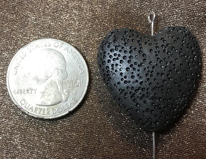 1 count HEART Lava Stone Diffuser Stone