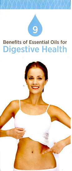 9 benefits of Essential Oils for DIGESTIVE HEALTH Trifold Brochure