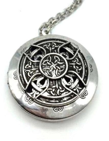 Eternal Irish Celtic Love Knot -  Diffuser Locket w/ Chain -