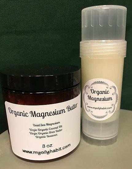 Organic Magnesium Butter DUO - 8 oz jar & 2 oz Tube !