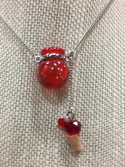 "Red ""Dust"" Ball Murano Glass Diffuser #RDB3"
