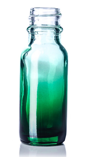 1 ounce Green Fade Glass Bottle w/ Fine Mist Spray Top