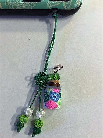 DK Green Fimo Clay Phone Fob Diffuser