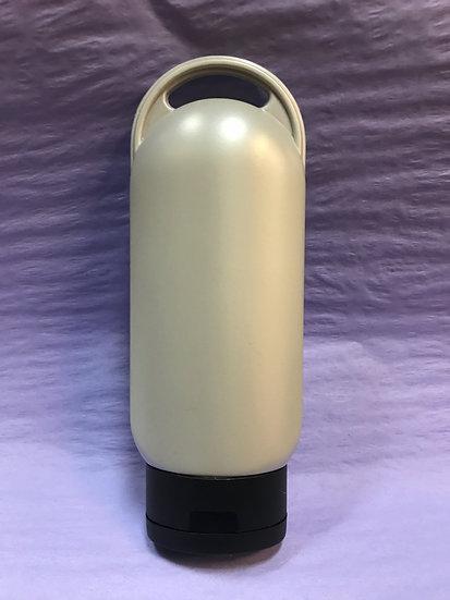 4 oz Pearl Silver Squeeze Bottle w/ flip top