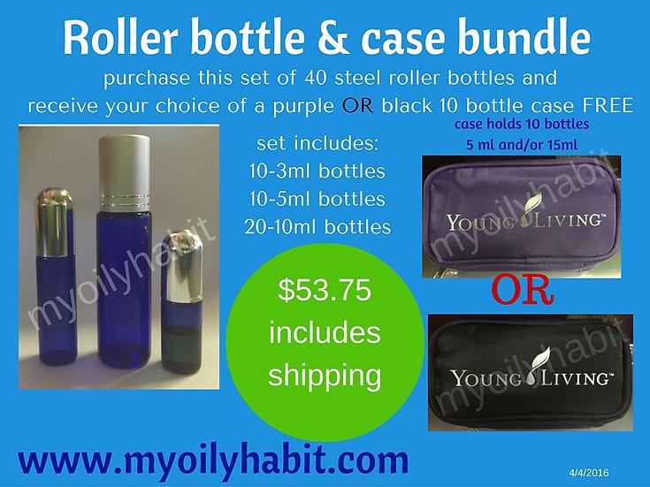 Roller Bottle & Case Bundle