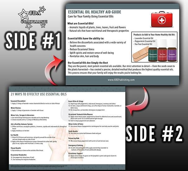 Essential Oil Healthy Aid Guide card